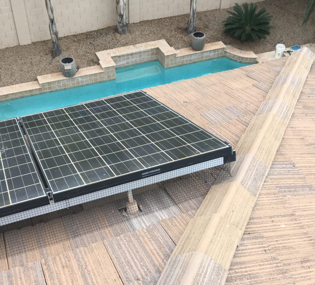 Perfect Pigeon Abatement on these solar panels by the Pigeonpros