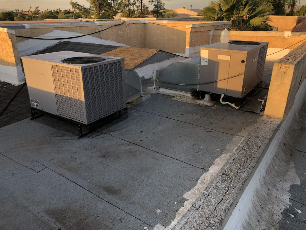 Pigeonpros cleaned up this commercial rooftop